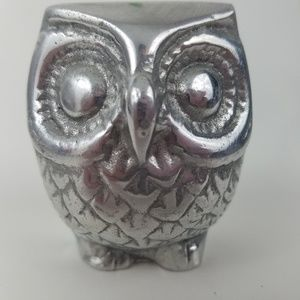 Owl Pewter Paperweight Made in Mexico
